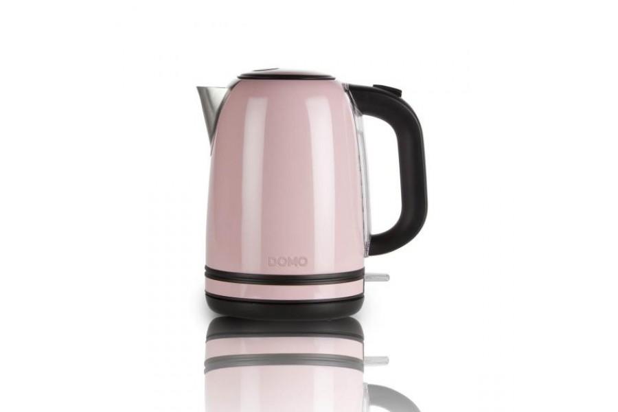 Чайник для води з нержавіючої сталі рожевого кольору - ретро серія Domo DO487W