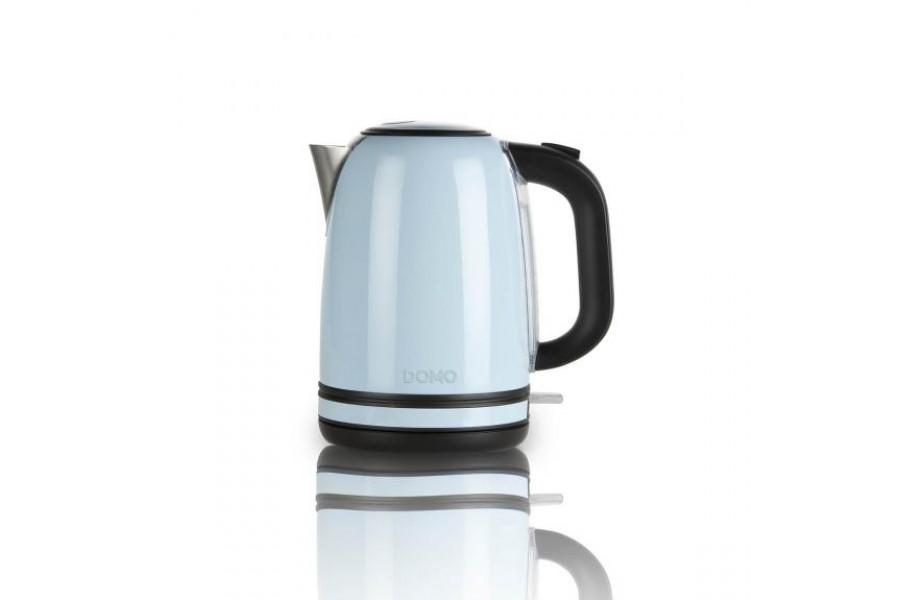 Чайник для води з нержавіючої сталіблакитного кольору - ретро серіяDomo DO488W